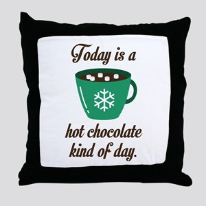 Hot Chocolate Throw Pillow