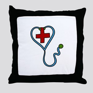 Stethoscope Throw Pillow