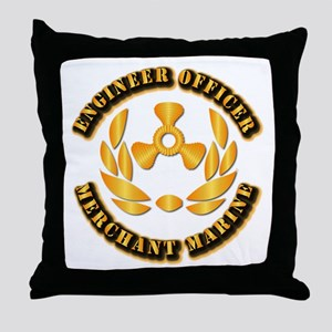 USMM - Engineer Officer Throw Pillow