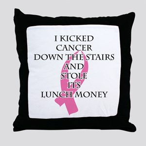Breast Cancer Bully Throw Pillow