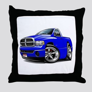 Dodge Ram Blue Truck Throw Pillow
