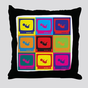 Sonograms Pop Art Throw Pillow