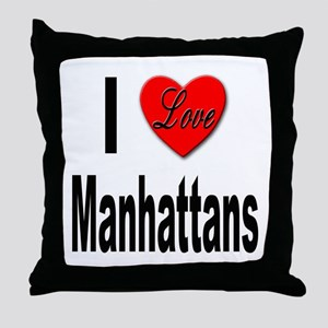 I Love Manhattans Throw Pillow