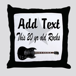 PERSONALIZED 20 YR OLD Throw Pillow