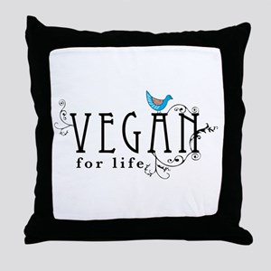 Vegan for life Throw Pillow
