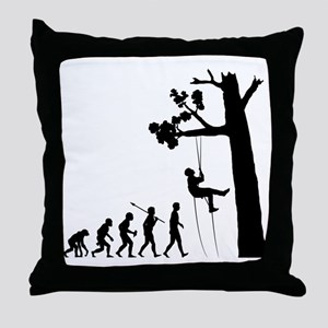 Tree-Climbing2 Throw Pillow