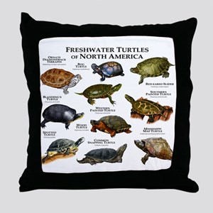 Freshwater Turtle of North America Throw Pillow