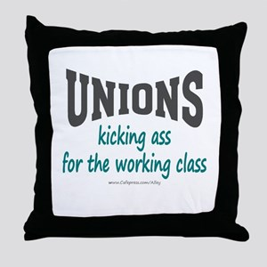 Unions Kicking Ass Throw Pillow