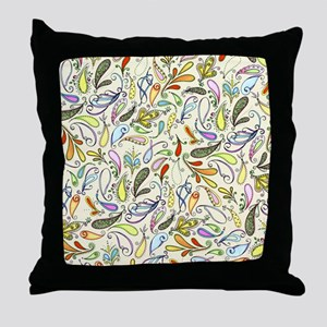 Crazy For Paisley Throw Pillow