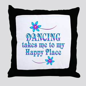 Dancing My Happy Place Throw Pillow