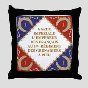 Napoleon's Guard flag Throw Pillow