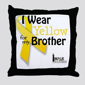 I Wear Yellow for my Brother Throw Pillow