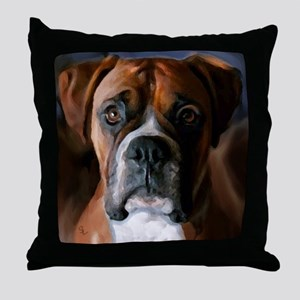 Adoring Boxer Dog Throw Pillow