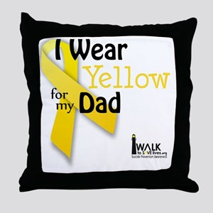 i_wear_yellow_for_my_dad_updated Throw Pillow