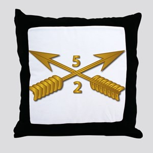 2nd Bn 5th SFG Branch wo Txt Throw Pillow