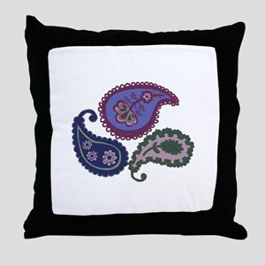Textured Paisley Throw Pillow