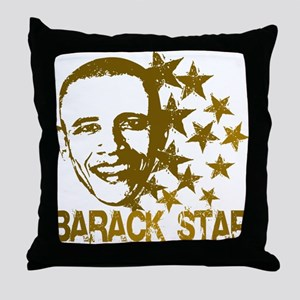 Barack Star Throw Pillow