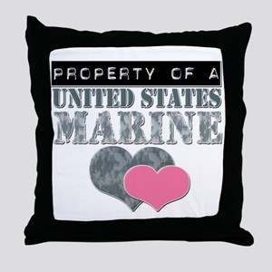 Property of a US Marine Throw Pillow
