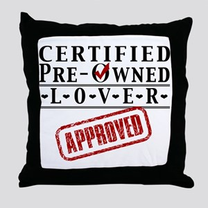Certified Pre-Owned Lover Throw Pillow