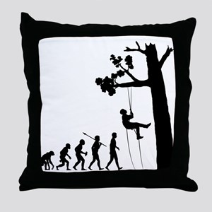 Tree Climbing Throw Pillow