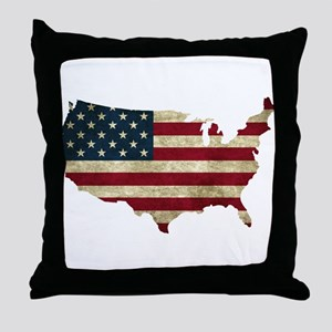 Vintage USA Throw Pillow