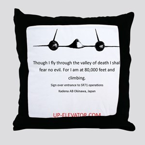 SR-71 Spy Plane Throw Pillow