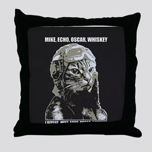 Aviator Kitty Throw Pillow