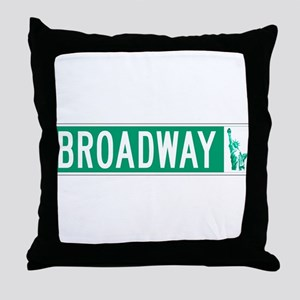 Broadway (with Statue of Liberty), NY Throw Pillow