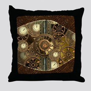 Steampunk, awessome clocks with gears Throw Pillow