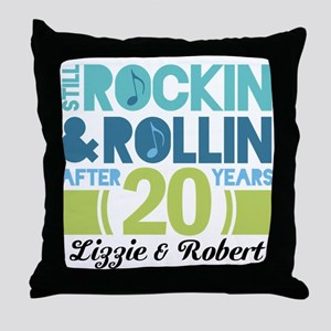 20th Anniversary Funny Personalized Gift Throw Pil