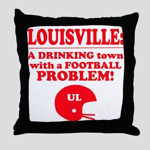 UL a drinking town Throw Pillow