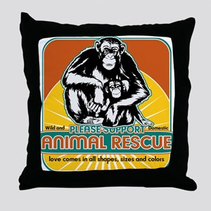 Save The Chimps Pillows - CafePress