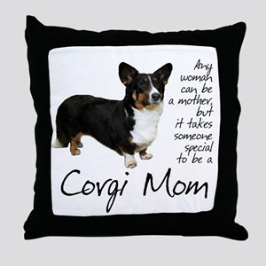 Cardigan Corgi Throw Pillow