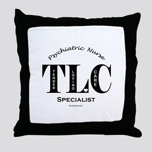 Psychiatric Nurse Throw Pillow BL