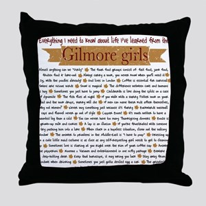 Gilmore Girls Life Lessons Throw Pillow