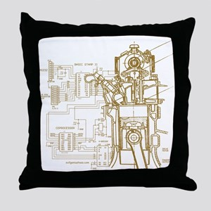 Mech tech engineering Throw Pillow