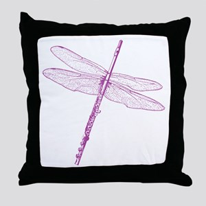 Dragonfly Flute Throw Pillow