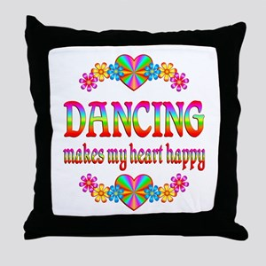 Dancing Happy Throw Pillow