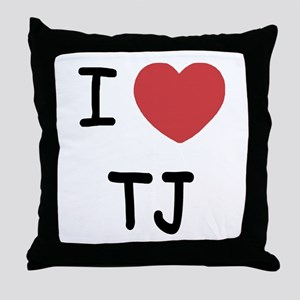 I heart TJ Throw Pillow