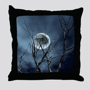 view in the night Throw Pillow