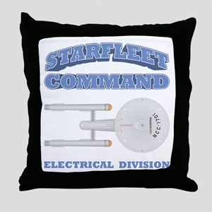 Starfleet Electrical Division Throw Pillow