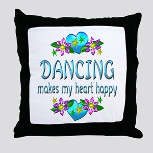 Dancing Heart Happy Throw Pillow