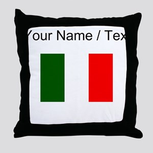 Custom Italy Flag Throw Pillow