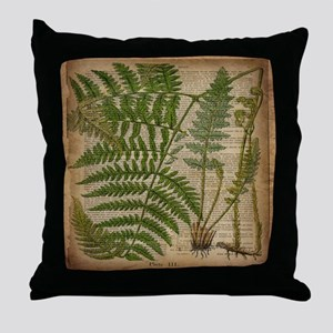botanical fern leaves Throw Pillow