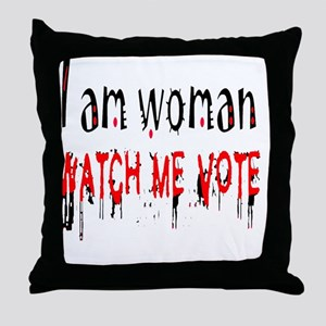 WATCH ME VOTE MYLAR BALLOON Throw Pillow