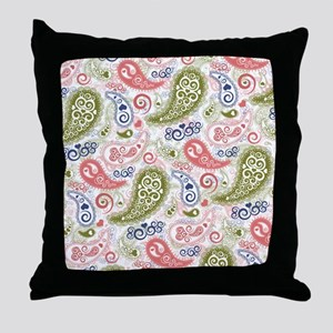 Sweet Caroline Heart Paisley Pattern Throw Pillow