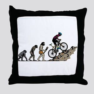 Mountain Biking Throw Pillow