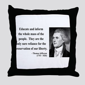 Thomas Jefferson 22 Throw Pillow