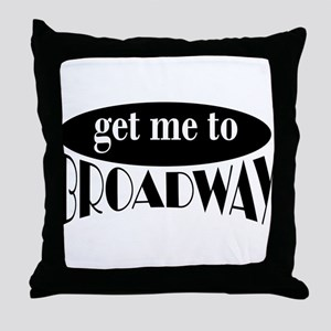 To Broadway Throw Pillow