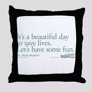 Save some lives. - Grey's Anatomy Throw Pillow